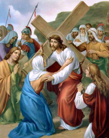 jésus rencontre sa mère chemin croix